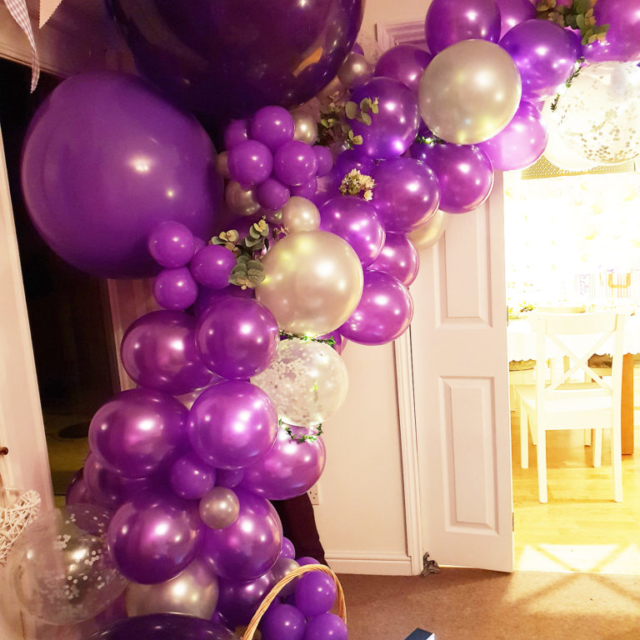balloon garland purple