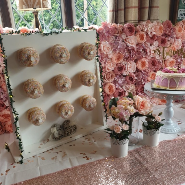 Doughnut Wall Cake table display