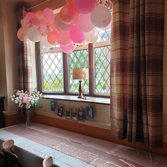 Pink Balloon garland