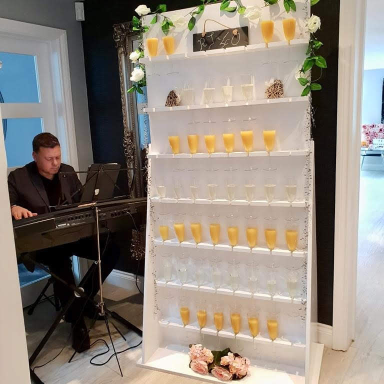 champagne flute wall