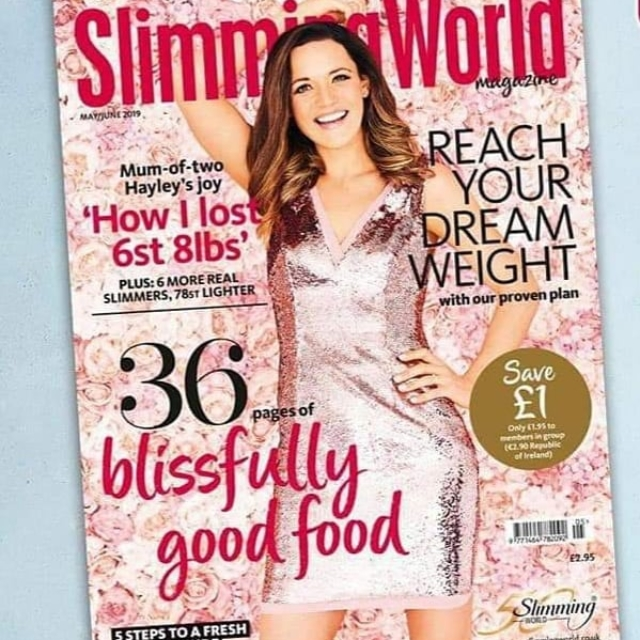 Slimming world front cover shoot May/June 2019