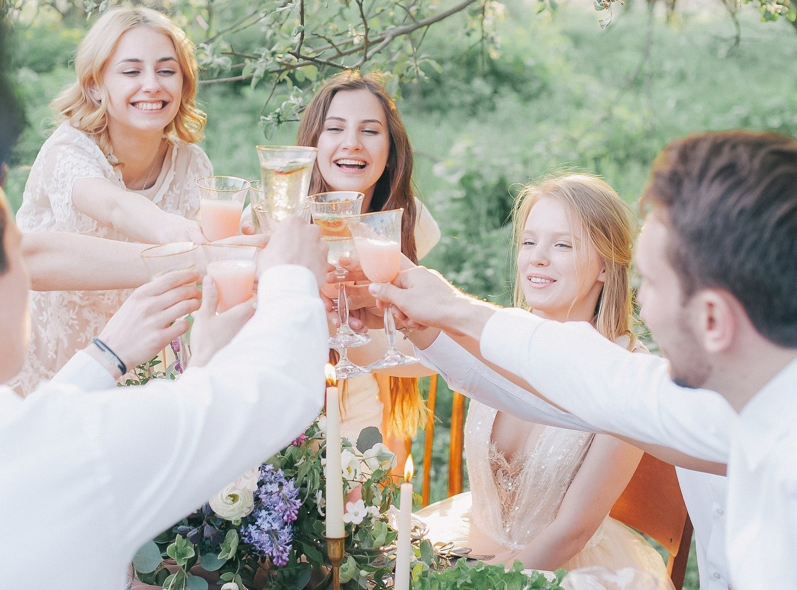 adults cheers at party